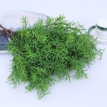 Искусственные растения зеленая трава пластиковый цветок искусственная трава Настольный Декор трава для сада наружное украшение дома поддельные растения