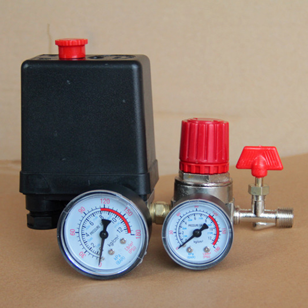 Image 5 - 90 120PSI Universal Motor Driven Practical Safety With Gauges Pressure Control Switch Air Compressor Pump Regulator Accessories-in Pneumatic Parts from Home Improvement