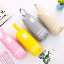 Large Double Zipper Pencil Case Cute Clear PencilCase Big Kawaii Bag School&Offices Stationery Supplies for Girls Pencil Box iridescence clear pencil case