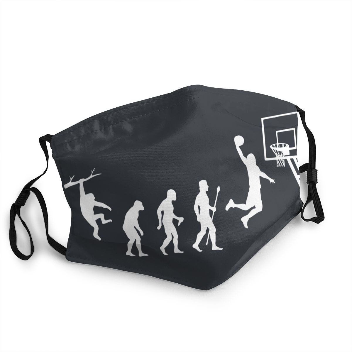 Born To Play Basketball Evolution Reusable Face Mask Printed Anti Bacterial Dustproof Protection Cover Respirator Mouth Muffle