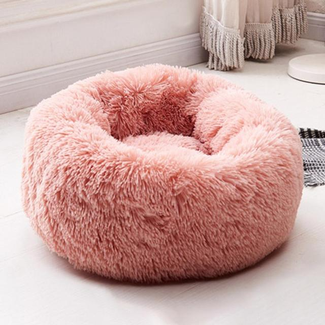 Super Soft Washable Dog Bed Sofa Long Plush Kennel Deep Sleep House 3