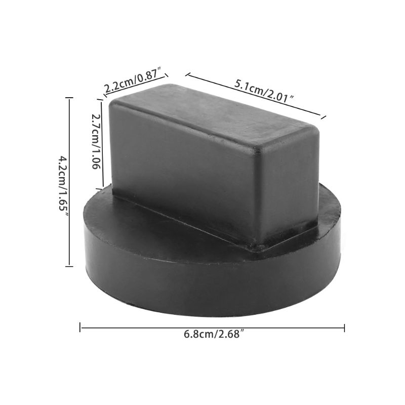 Black Grebest Car Jack Pad Car Exterior Parts Adapter Plastic Car Slotted Jack Pad Frame Rail Adapter for Mercedes-Benz W164 X164 W221