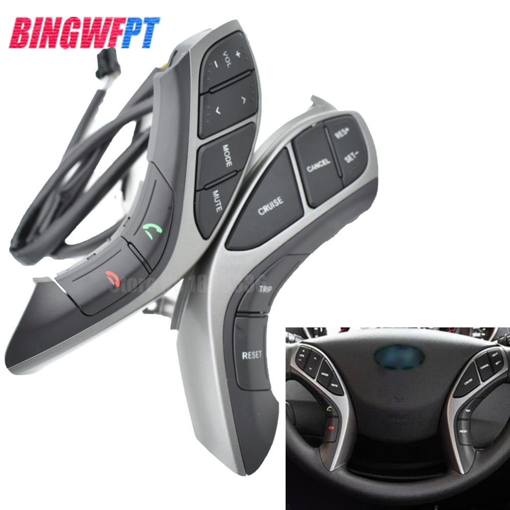 para hyundai elantra 2012 2013 2014 mt botoes de controle multifuncoes volante volume audio funcao cruzeiro