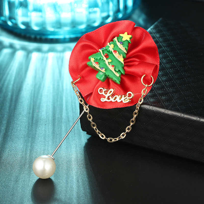 Spille Nuovo Limitata Lega di Stagno Lovers 'della Perla Dello Smalto Spille Serie 2019 Albero Di Natale Berretto di Babbo natale Regalo Spilla Fibbia