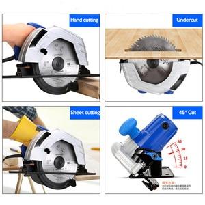 Image 4 - Electric Woodworking Circular Saw 1500W 7 inch 60mm Multi function Cutting Machine Household Small Flip Saw Circular