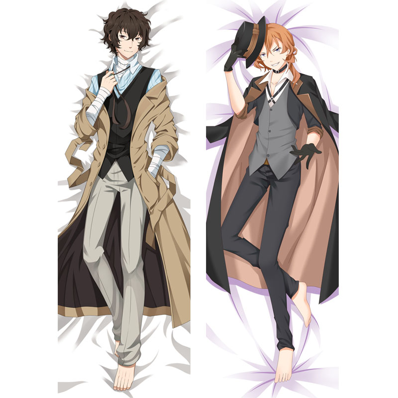 Anime Dakimakura Bungo Stray Dogs Osamu Dazai Hug Body Pillow Cover BL Cushion Pillow Case Otaku Cosplay DIY Custom Made Gift