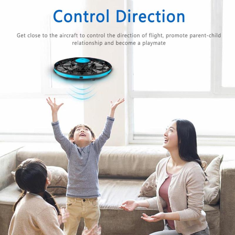 Mini UFO Drone Anti-collision Flying Helicopter Magic Hand UFO Ball Aircraft 360 Degree Rotating Sensing Induction Drone Toys