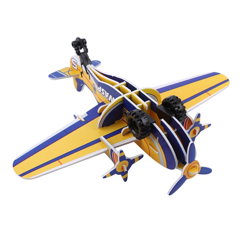 Kids Handmade Throwing Flying Aircraft DIY Airplane Educational Toys for Children Foam Learning Puzzles Models image