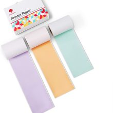 Phomemo Colorful Thermal Sticker Paper M02/M02 Pro/M02S Mini Printer,50mm x 3.5m, Diameter 30mm, 3 Rolls Pocket Printer