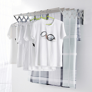 Drying Rack W-Type Space Saver Clothes Rack Stainless Steel Wall Mounted Laundry Folding Clothes Drying Rack Towel Drying Rack