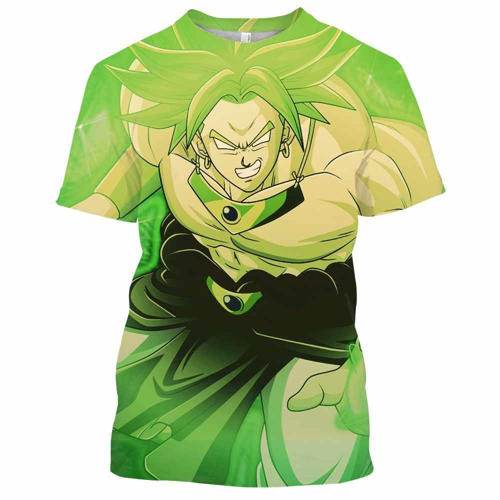 2020 new dragon ball z t shirt Adulto bambino 3d di stampa dragon ball camicia di estate O-Collo Traspirante streetwear tops