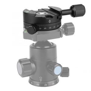 Image 3 - Panoramowanie zacisk QJ 01 Quick Release zacisk ze stopu aluminium 360 stopni obrotowy panoramiczny statyw głowy z poziom skali do zacisku
