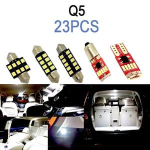 Image 2 - מושלם לבן Canbus שגיאת משלוח פנים LED הנורה כיפת מפת מקורה קריאת אור ערכת לאאודי Q3 Q5 SQ5 Q7