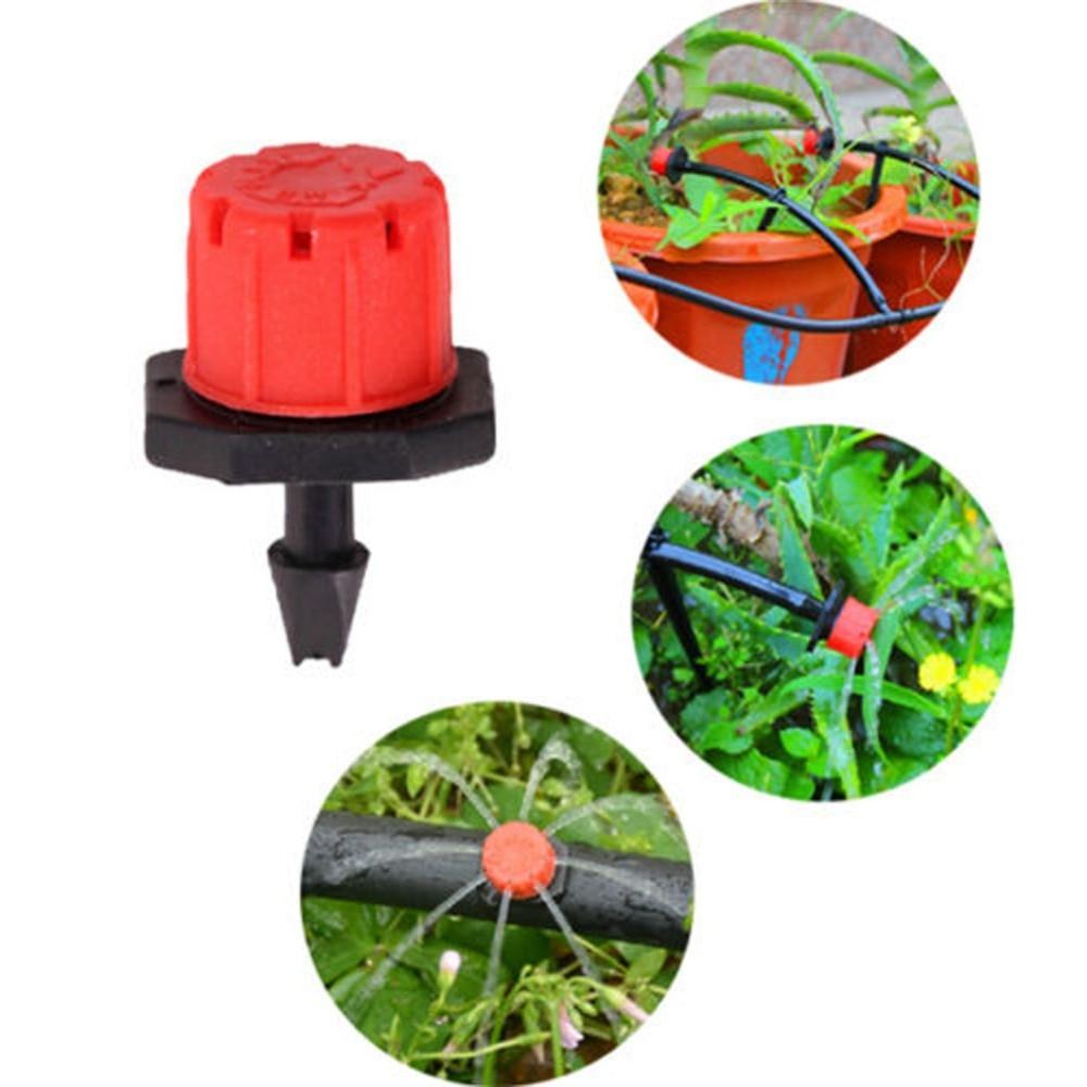 Hf1eefb533bfe4c22ab66bcf58e5fc745G 100pcs/set Sprinkler Garden Irrigation Micro Flow Dripper Drip Head Irrigation Sprinklers Adjustable Water Dripper Head