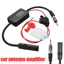 12V FM & AM Car Radio Signal Antenna Aerial Amp Booster Amplifier Kit Accessories