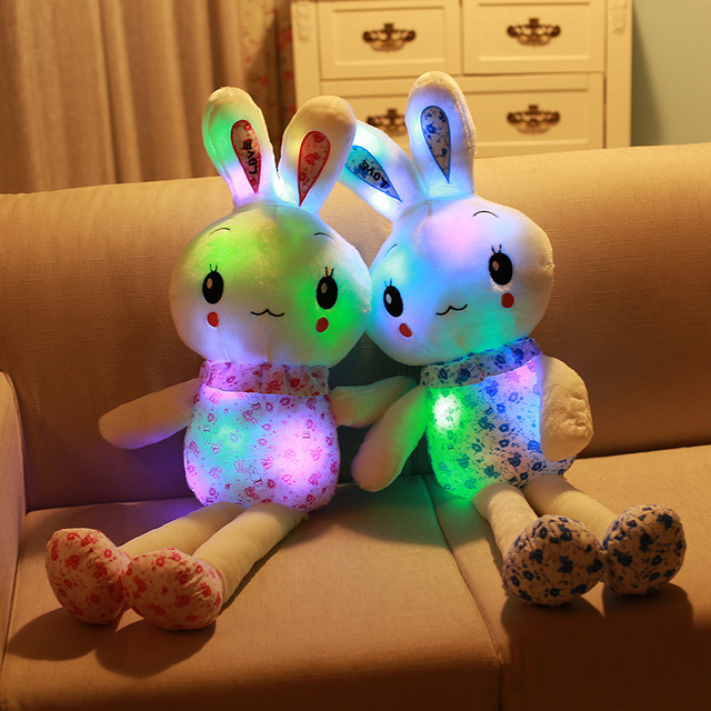 """""""חמוד ארנב"""" זוהר ממולא בעלי החיים בובה בפלאש צעצוע יום הולדת חג המולד מתנה"""