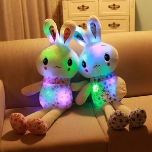 """Image 1 - """"Śliczny królik"""" Luminous wypchane zwierzę lalka pluszowa zabawka urodziny świąteczny prezent na boże narodzenie"""