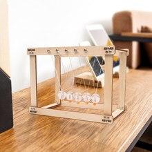 Колыбель Ньютона стол деревянный Декор маятник шарик шарики Ньютона Физика Наука Маятник Сталь баланс с изящными бубонами для игрушек