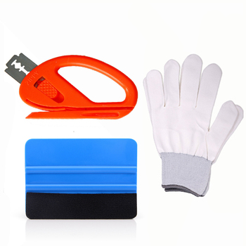 EHDIS Vinyl Car Wrap Folie Tool Set Vinyl Cutter Auto Vehicle Film Wrapping Tool Squeegee Scraper Window Tint Car Cleaner image