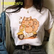 Cat T Shirt Women Summer Funny Kawaii Clothes Aesthetic Tshirt Ulzzang Casual Vintage Cartoon Harajuku Female T-shirt Gothic