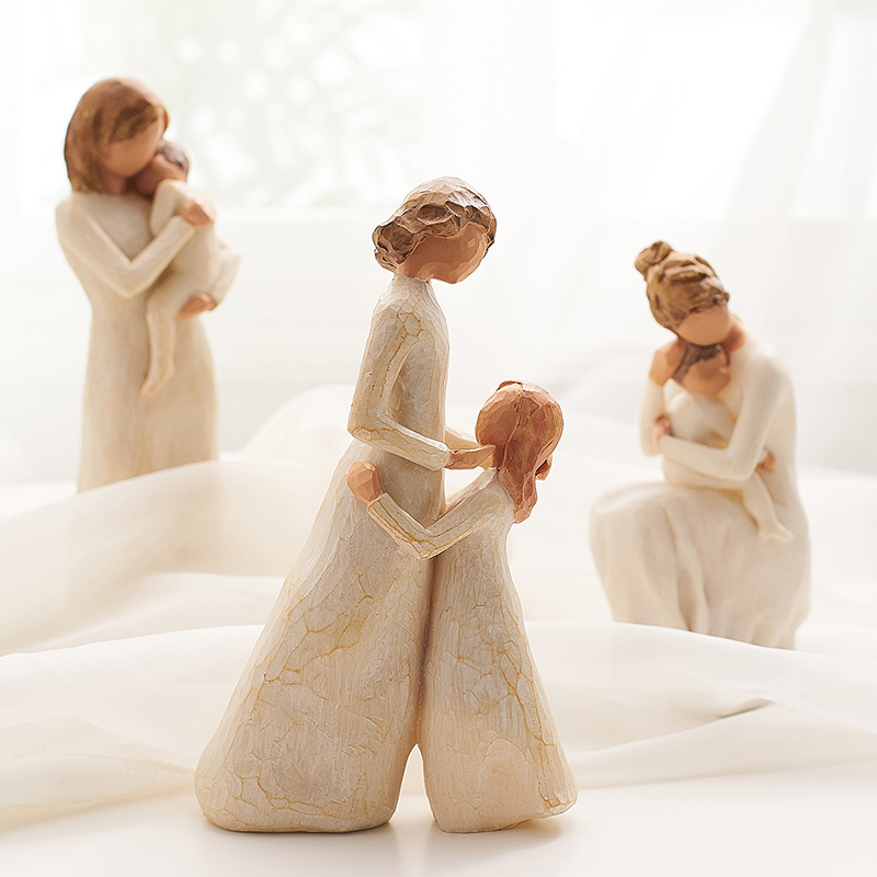 Nordic Home Decoration People Model Living Room Accessories Family Figurines Crafts Mother's Day Birthday Christmas Wedding Gift