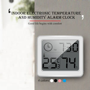 Junejour Multifunction Hygrometer Electronic-Temperature-Humidity-Monitor-Clock Large