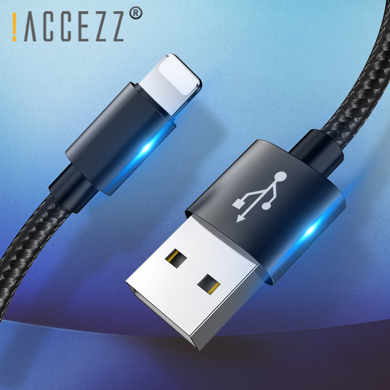 !ACCEZZ Fast Charging Data Cable For Apple Phone For iPhone X 7 6 8 6S 5S Plus XS MAX XR For iPad Mini Lighting USB Charger Line|Mobile Phone Cables| |  - AliExpress