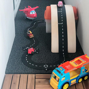 Kids DIY Traffic Roadway Track Puzzle Educational PVC Children Road Building Motorway Toy Removable Cars Vehicle Track Boys Gift 2