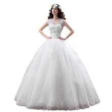 Wedding-Dress Embroidery Lace New-Arrive Size-002 Custom-Made Korean-Style Large-Size