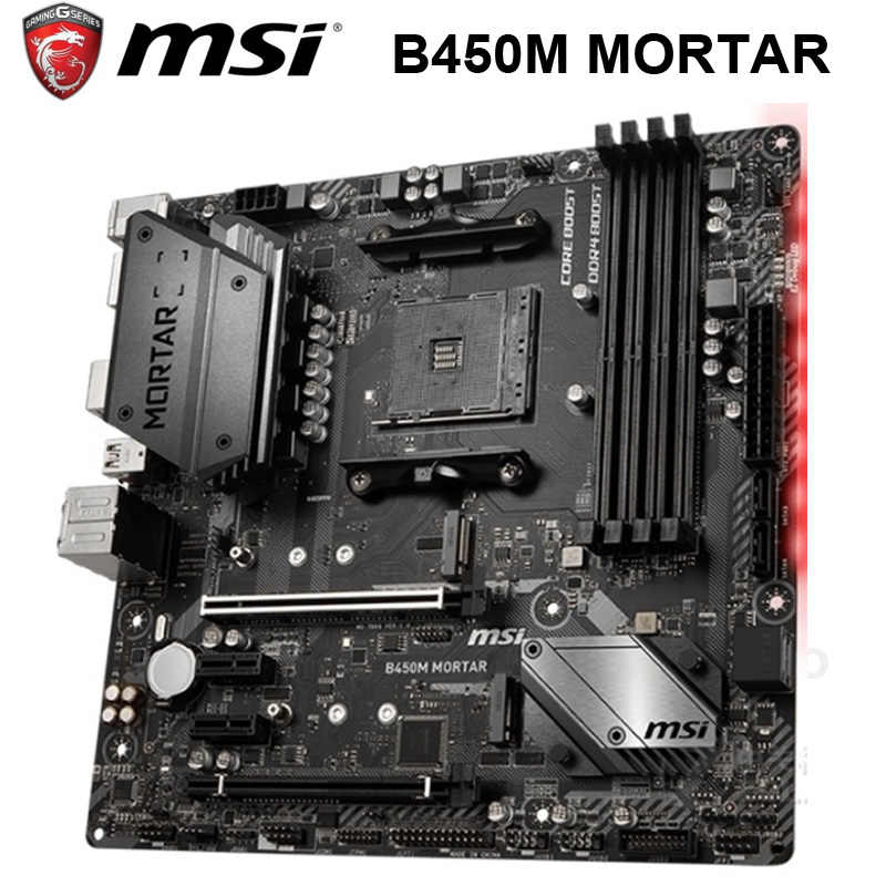 Presa AM4 MSI B450M MALTA Scheda Madre AMD B450 AMD Ryzen DDR4 64GB AM4 Desktop Originale MSI B450 Scheda Madre PCI-E 3.0 AM4 DDR4