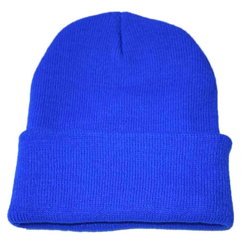 Осенне-зимняя одежда из шерсти смеси мягкий теплый вязаный Кепки Повседневное Chapeau унисекс сапоги высотой выше колена Вязание шапка в стиле хип-хоп кепка, теплая зимняя Лыжная шапка# Y5 - Цвет: Синий