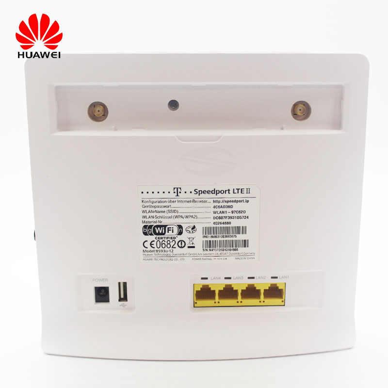 ロック解除使用 huawei 社 4 グラムルータ B593 4 4g lte cpe ワイヤレスルータアンテナ 4 グラム cpe ルータ sim カードスロット pk E5186 B525 B52