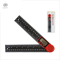 360° protractor LCD digital scale angle gauge inclinometer angle measurement vernier caliper level ruler measurement tool|Protractors| |  -
