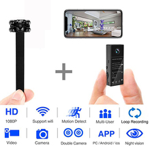 Double Lens Wifi Camera HD 1080P Nanny Mini Camcorder IP home Security Recorder Night Vision cam Motion Detection P2P