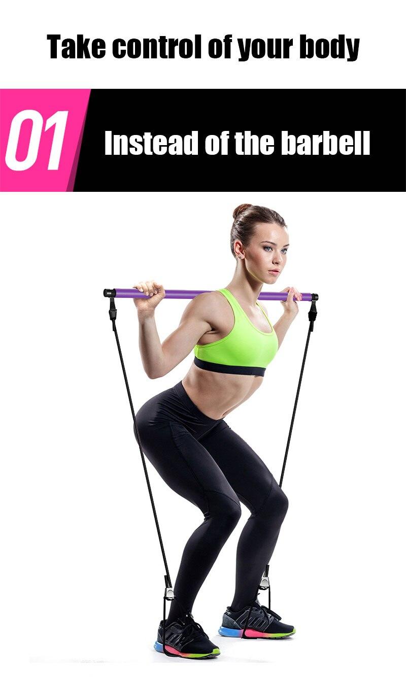 瑜伽普拉提棒弹力绳健身女家用器材拉力绳练臂力提臀瘦肚子拉力器-tmall_04