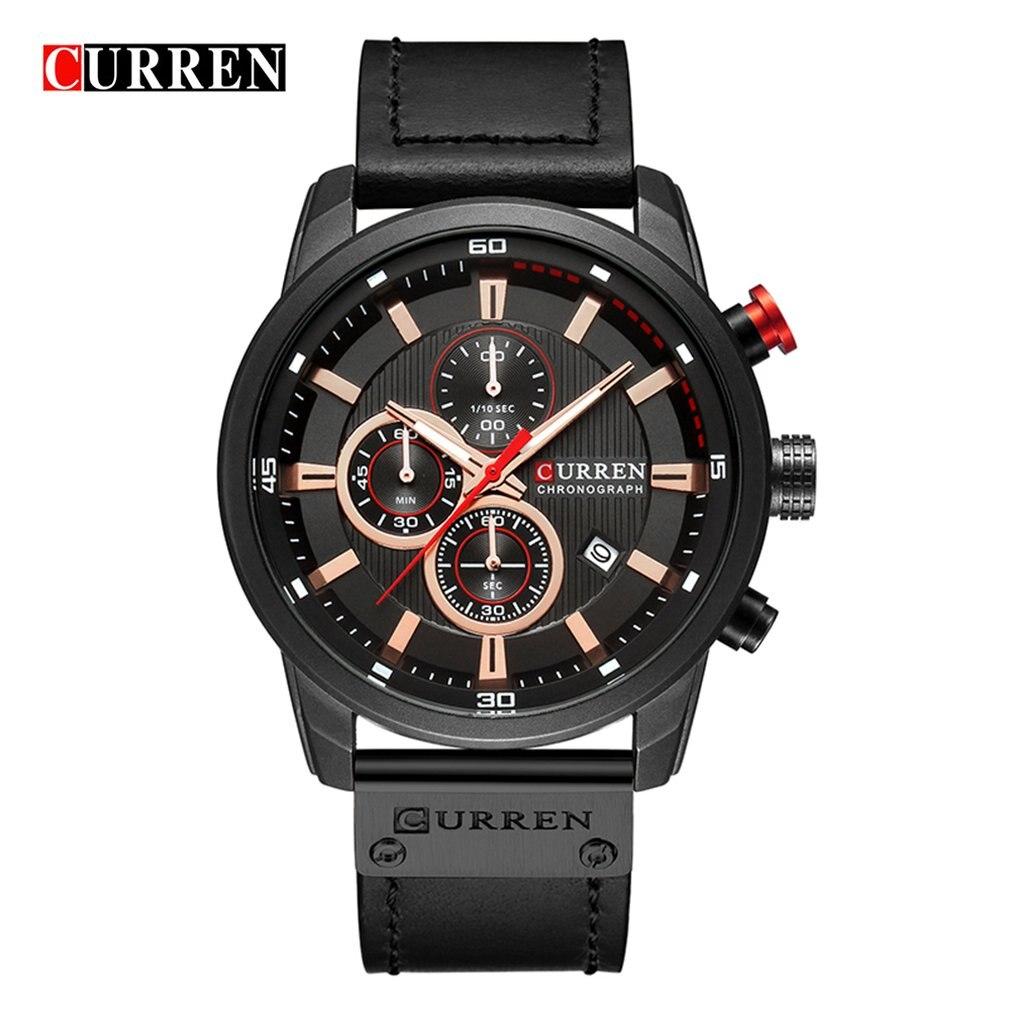 Carrian 8291 Men'S Watch Belt Watch Calendar Men'S Watch Six-Piece Watch Calendar Watch Waterproof Watch