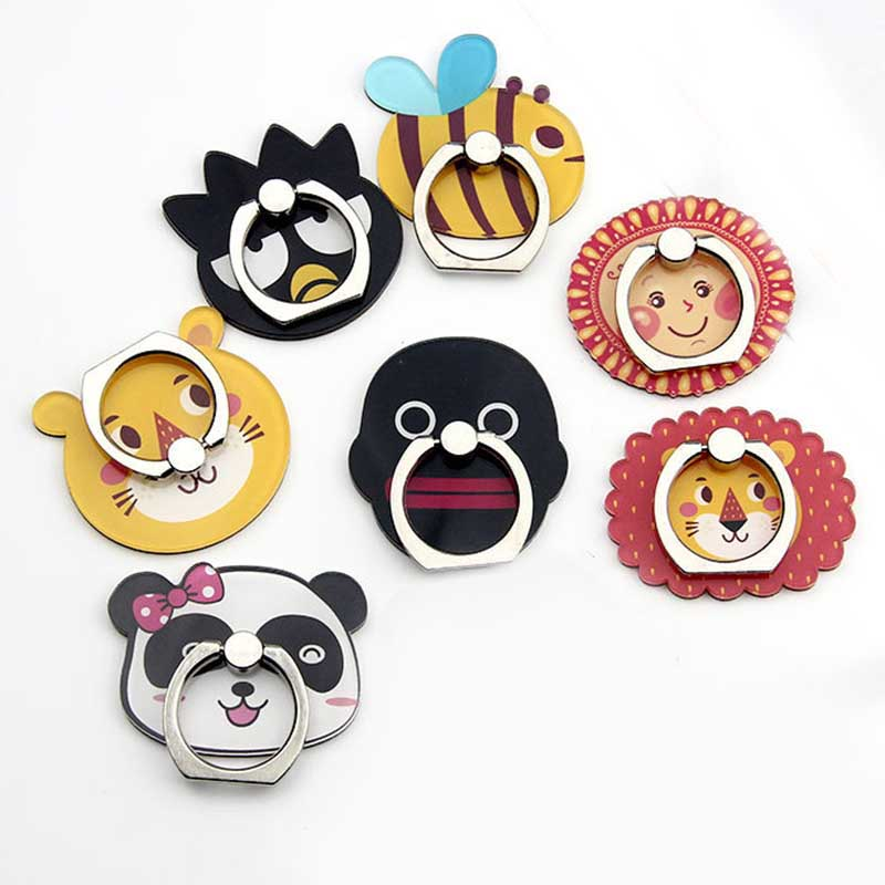 New Arrival Mobile Phone Holder Metal Finger Ring Holder Cute Panda & Lion Animals  Phone Ring Holder Phone Stand Support