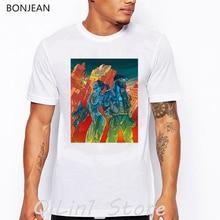Newest Mens tshirts summer attack angel eva t-shirt men graphic tees shirt homme cool hip hop punk t man's