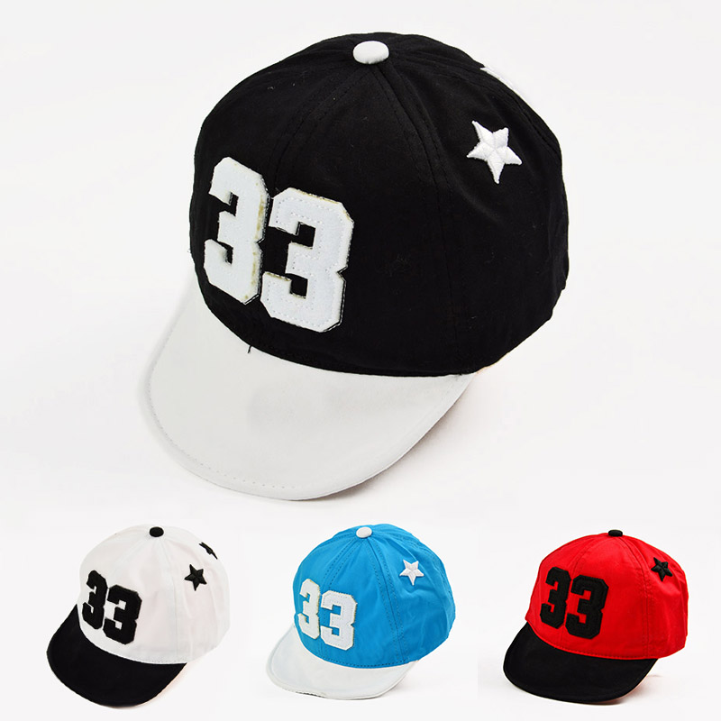 Spring Summer New Baby Hat Number Cotton Baseball