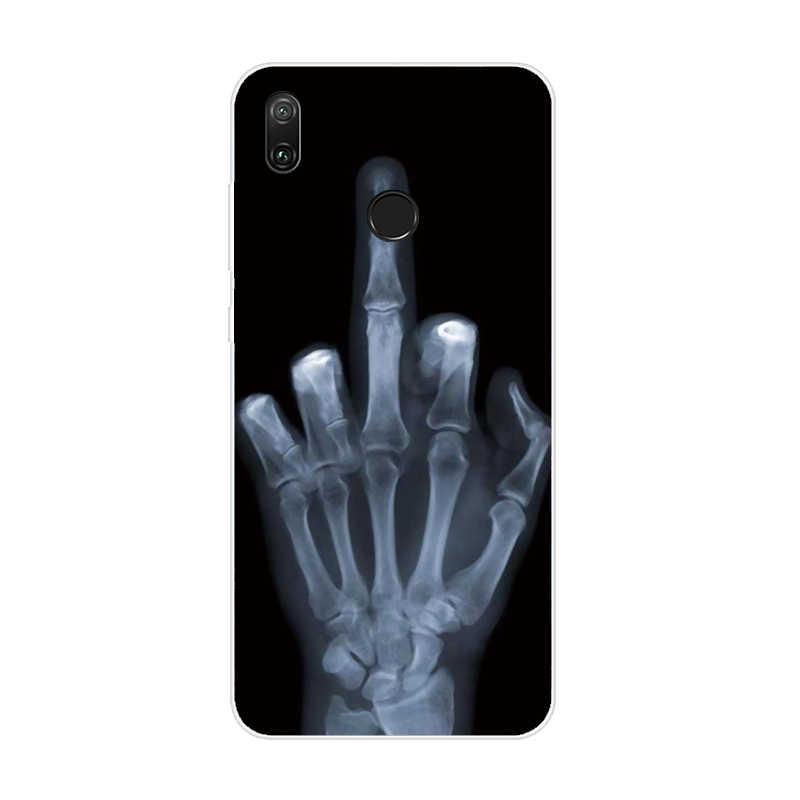 Miękkie etui z TPU na telefon dla Huawei Y7 etui na telefony pokrywa Coque dla Huawei Y7 2019 pokrywa silikonowa fundas dla Huawei Y7 2019 Case Capa