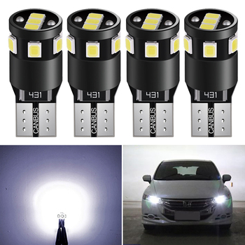 4x T10 W5W LED LED Bulbs Canbus For Car Parking Position Lights Interior Lamp For Acura RDX TL TSX MDX TE RSX MDX INTEGRA image