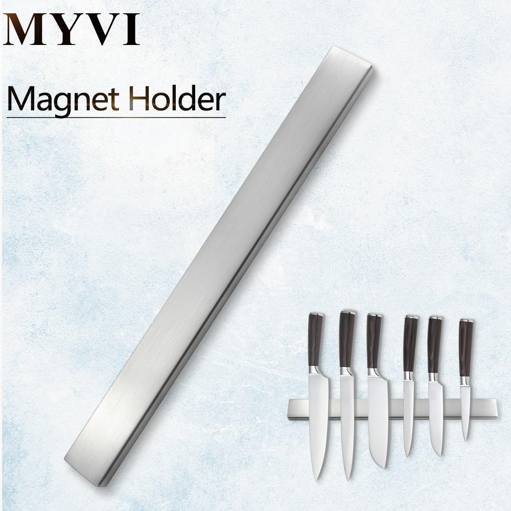 MYVI Magnetic Knives Holder Self-adhesive 45CM Length Stainless Steel Block Magnet Knife Stand For Kitchen Knives Kitchen Tool