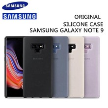 מקורי אמיתי סמסונג סיליקון Case כיסוי עבור עבור Samsung Galaxy הערה 9 N960 סיליקון חזרה כיסוי מקרה