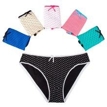 5 Pcs/set Sexy Lace Panties Women's Cotton Briefs Girls Cute