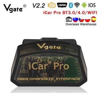Vgate iCar Pro ELM 327 Bluetooth/WIFI OBD2 Scanner car diagnostics elm327 2.2 obd 2 obd2 Diagnostic Tool scan tool pro odb2 Hot