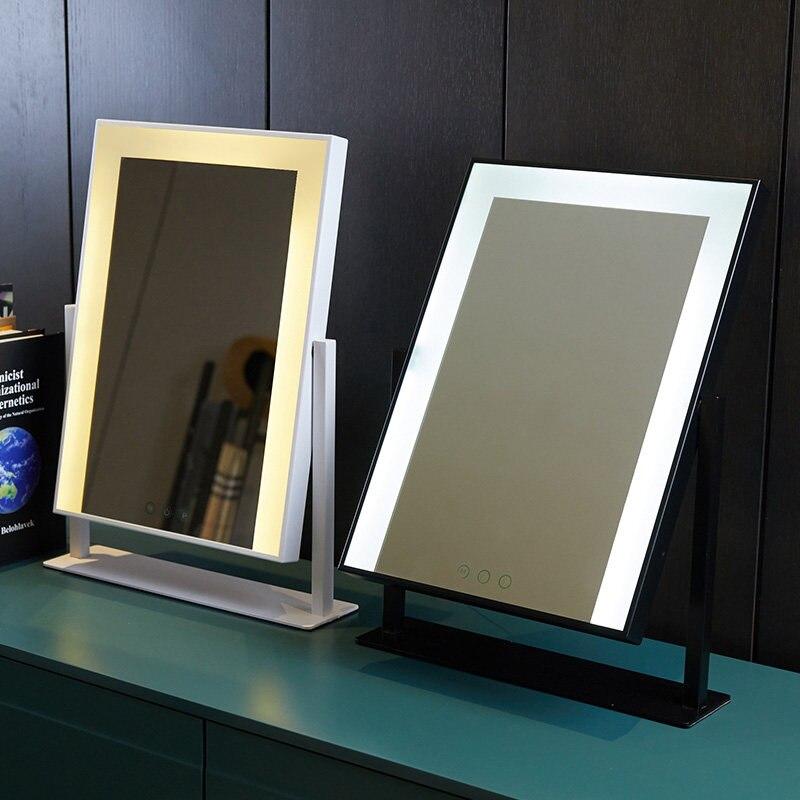 Голливудский стиль освещенный туалетный столик макияж зеркало с светодиодные лампы сенсорное управление косметические зеркала с подсветк... - 2