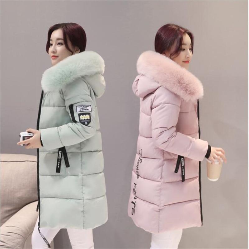 Parka   Women Winter Coats Long Cotton Casual Fur Hooded Jackets Women Thick Warm Winter   Parkas   Female Overcoat Coat 2019 new