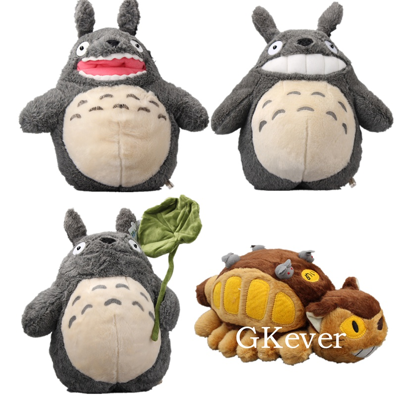 Height 36cm Totoro Plush Toys Doll And Bus Totoro Doll Height 12.5cm And Lenght 30cm Kawaii Gift Toys For Children Baby