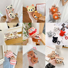 For AirPods Pro 2 1 Case 3D Multi Cartoon Bear Design Case Cover For AirPods Pro Protective Earphone Cover