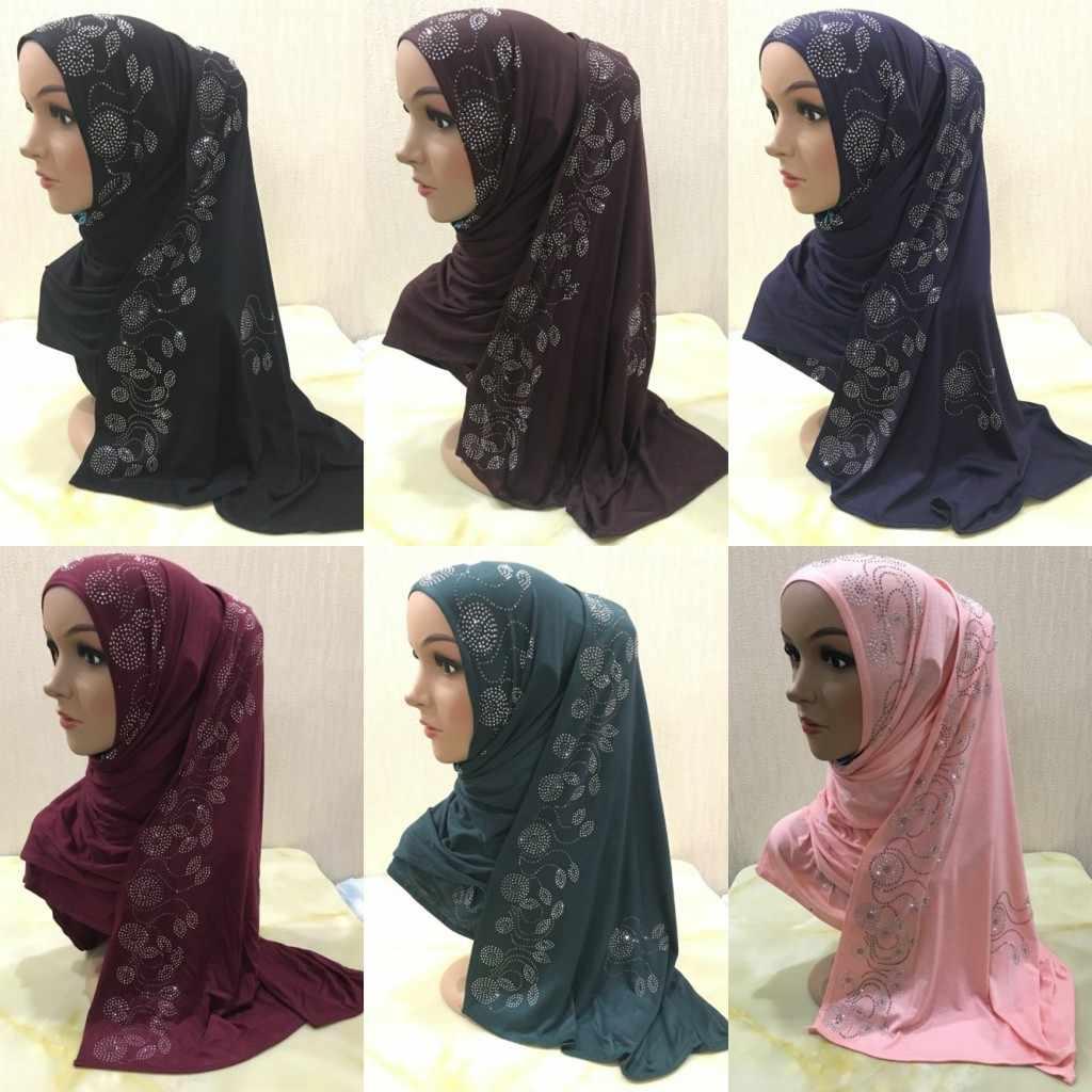 Women Cotton Scarf Hijab Muslim Wrap Long Scarves Shawl Shayla Islamic Headwear